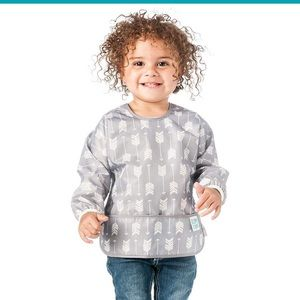 Brand New Bumkins Sleeved Bib - Grey Arrow Print